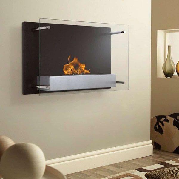 Regal Flame EW9002-EF Milan Ventless Bio Ethanol Wall Mounted Fireplace 2