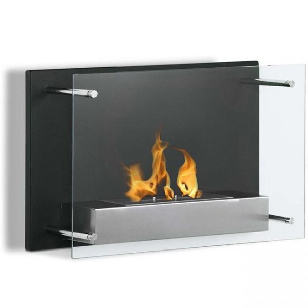 Regal Flame EW9002 Milan 24 in. Ventless Wall Mounted Bio Ethanol Fireplace