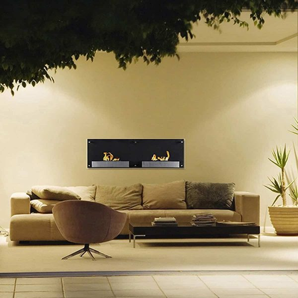 Regal Flame EW9003-MF 47 in. Mora Ventless Wall Mounted Bio Ethanol Fireplace 1