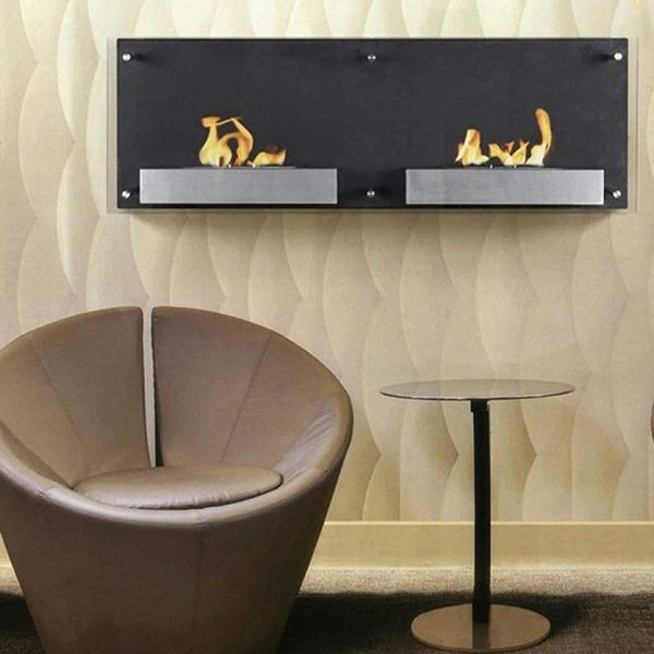 Regal Flame EW9003-MF 47 in. Mora Ventless Wall Mounted Bio Ethanol Fireplace 3