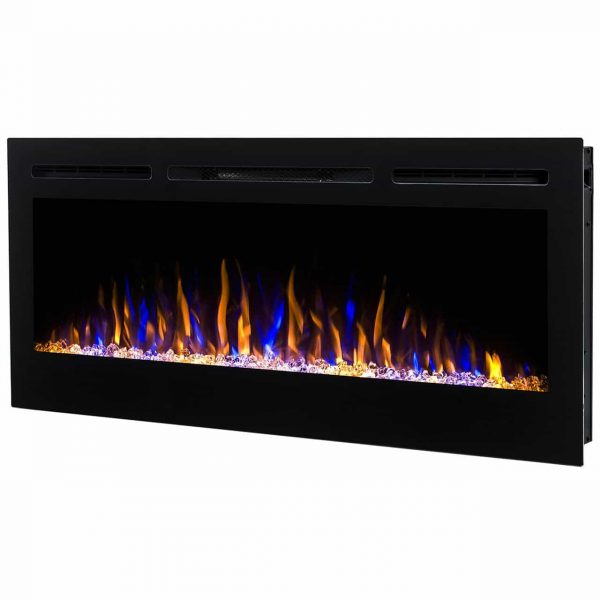 Regal Flame LW2035CC Lexington 35 in. Built-in Ventless Heater Recessed Wall Mounted Electric Fireplace - Crystal 1