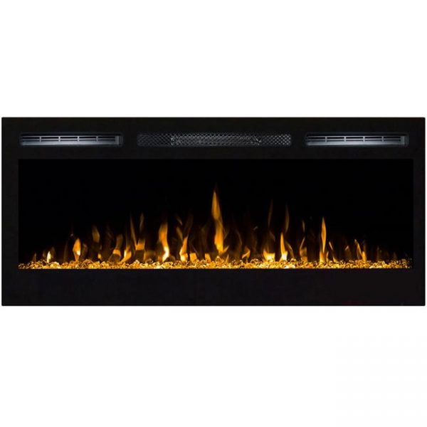 Regal Flame LW2035CC Lexington 35 in. Built-in Ventless Heater Recessed Wall Mounted Electric Fireplace - Crystal
