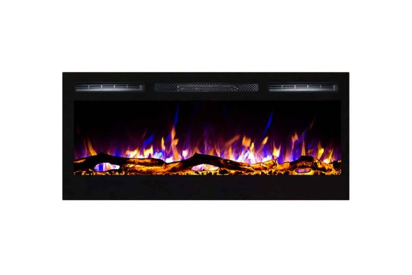 Regal Flame LW2035WL-MF 35 in. Cynergy Log Built in Wall Mounted Electric Fireplace 2