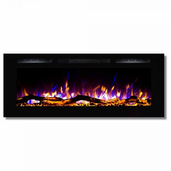 Regal Flame LW2050WL Fusion 50in Wall Mounted Electric Fireplace - Log 1