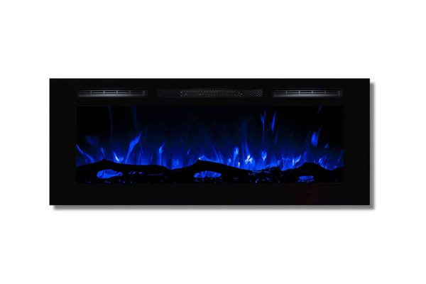 Regal Flame LW2050WL-GL Fusion 50 in. Log Built-in Ventless Recessed Wall Mounted Electric Fireplace 1