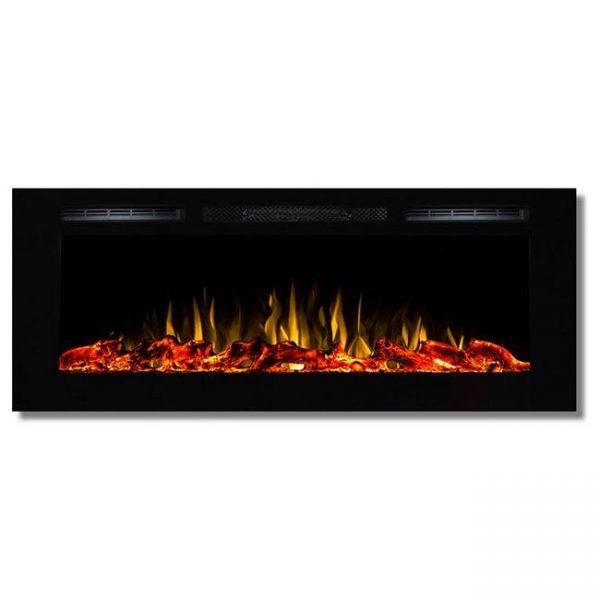 Regal Flame LW2050WL-GL Fusion 50 in. Log Built-in Ventless Recessed Wall Mounted Electric Fireplace