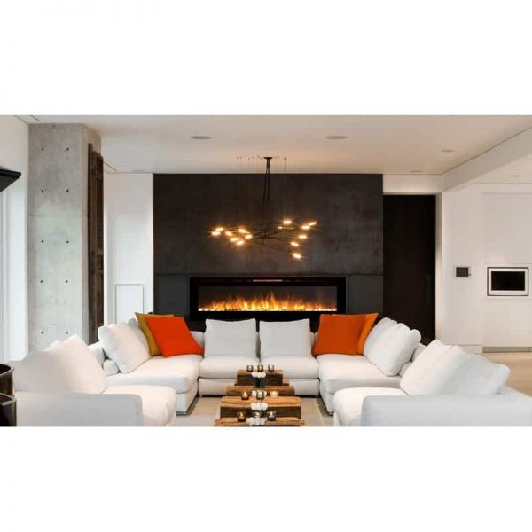 Regal Flame LW2060WS Astoria 60in Wall Mounted Electric Fireplace - Pebble 1