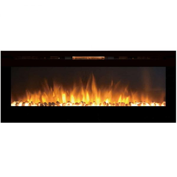 Regal Flame LW2060WS Astoria 60in Wall Mounted Electric Fireplace - Pebble