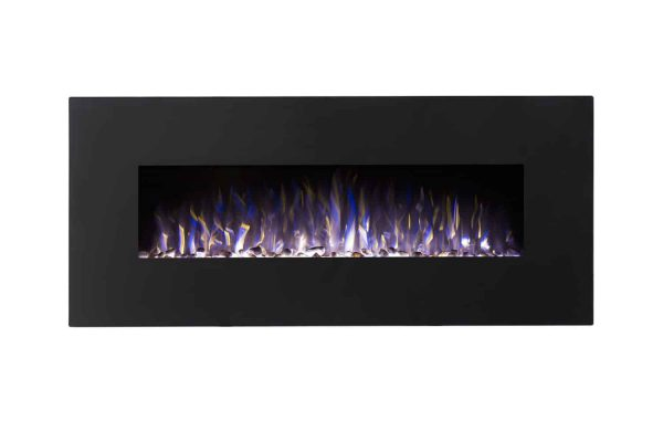 Regal Flame LW5050PF-MF 50 in. Rigel Pebble Ventless Heater Electric Wall Mounted Fireplace, Black 1
