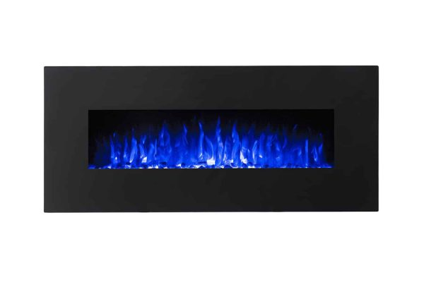 Regal Flame LW5050PF-MF 50 in. Rigel Pebble Ventless Heater Electric Wall Mounted Fireplace, Black 2