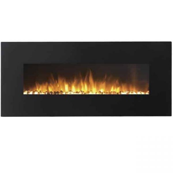 Regal Flame LW5050PF-MF 50 in. Rigel Pebble Ventless Heater Electric Wall Mounted Fireplace
