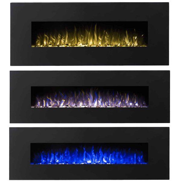 Regal Flame LW5060BK Denali 60in Black Electric Wall Mounted Fireplace