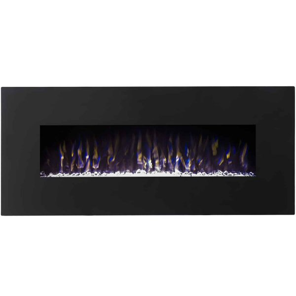 Regal Flame LW5075BK Orion 50in Black Electric Wall Mounted Fireplace - Crystal 1