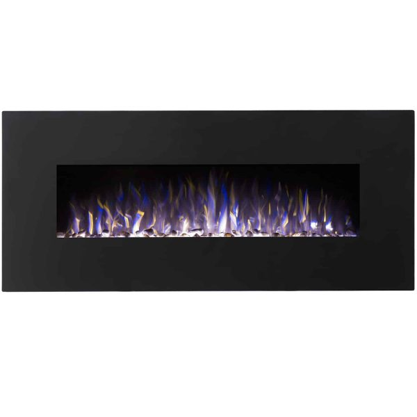Regal Flame LW5098BK Rigel 50in Black Electric Wall Mounted Fireplace - Pebble 1