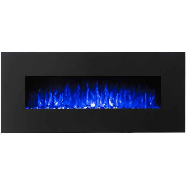 Regal Flame LW5098BK Rigel 50in Black Electric Wall Mounted Fireplace - Pebble 2