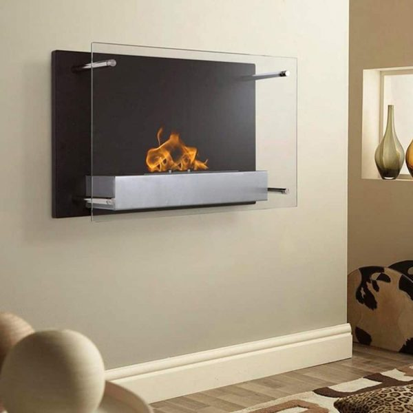 Regal Flame Milan 24 Inch Ventless Wall Mounted Bio Ethanol Fireplace 2