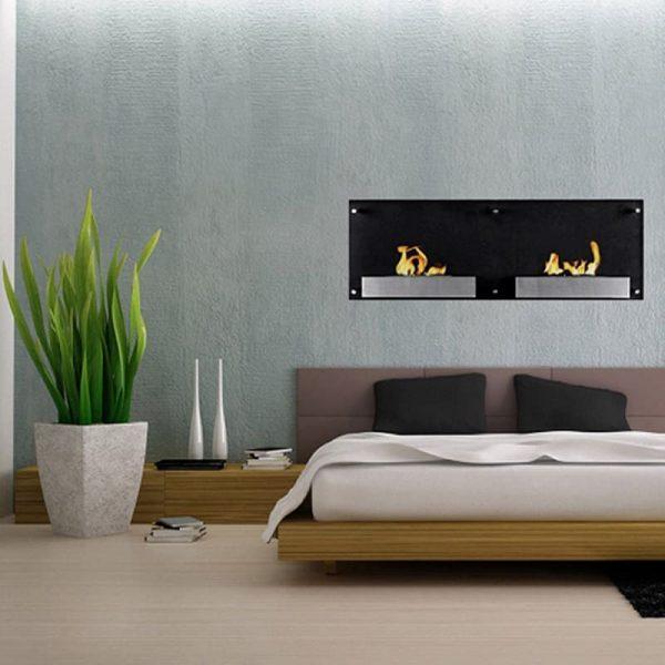 Regal Flame Mora 47 Inch Ventless Wall Mounted Bio Ethanol Fireplace 1