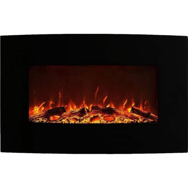 Regal Flame Oasis 23 Inch Ventless Heater Electric Wall Mounted Fireplace - Multi-Color