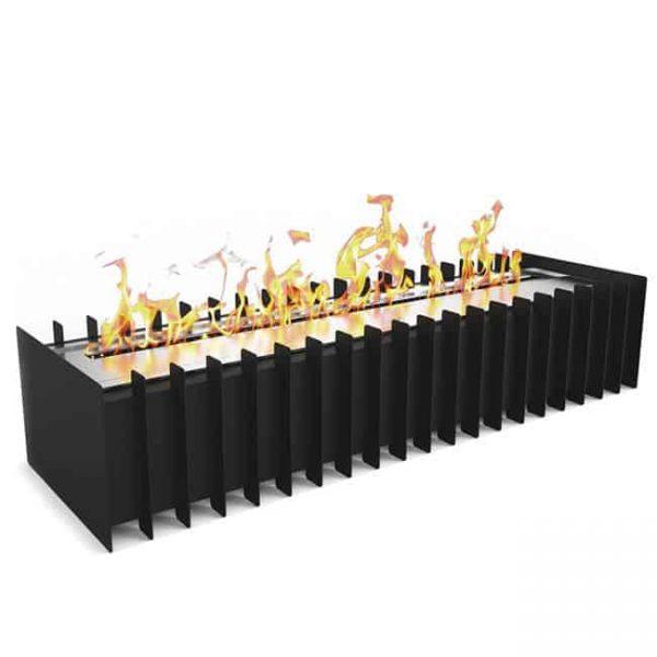 Regal Flame PRO 24 Inch Ventless Bio Ethanol Fireplace Grate Burner Insert - 4.8 Liter