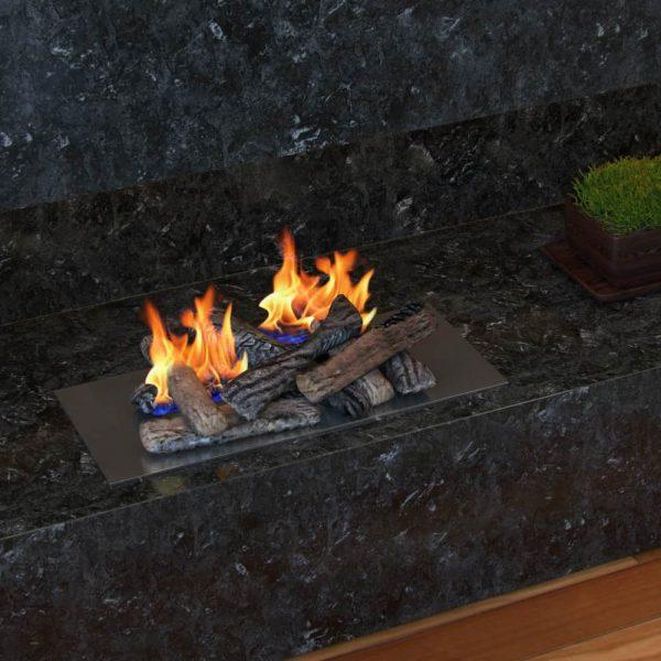 Regal Flame RFA2508 Ceramic Fireplace Logs in Oak - Set of 8 1