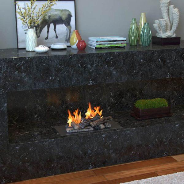 Regal Flame RFA2508 Ceramic Fireplace Logs in Oak - Set of 8 2