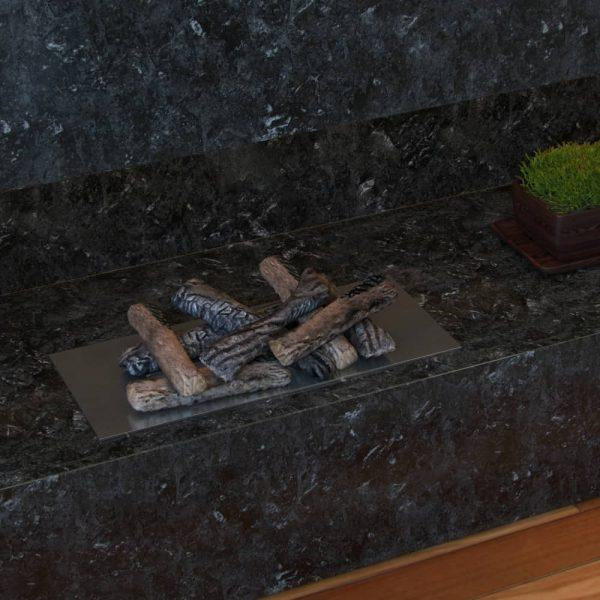 Regal Flame RFA2508 Ceramic Fireplace Logs in Oak - Set of 8