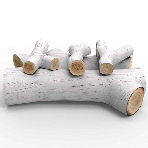 Regal Flame RFA4005 16in 5-Piece Ceramic Fireplace Gas Logs in Birch