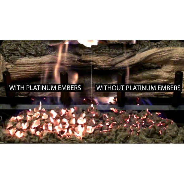 Regal Flame RFA6005 7 oz Platimum Bright Rock Wool Gas Fireplace Glowing Embers for Gas Logs with Vermiculite Granules 2