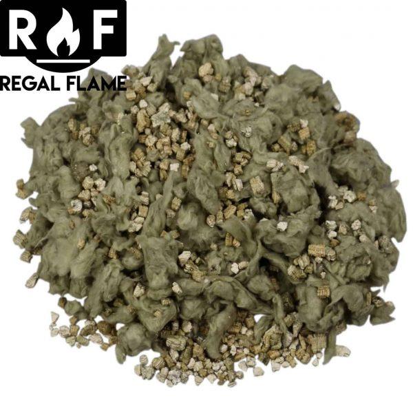 Regal Flame RFA6005 7 oz Platimum Bright Rock Wool Gas Fireplace Glowing Embers for Gas Logs with Vermiculite Granules 3