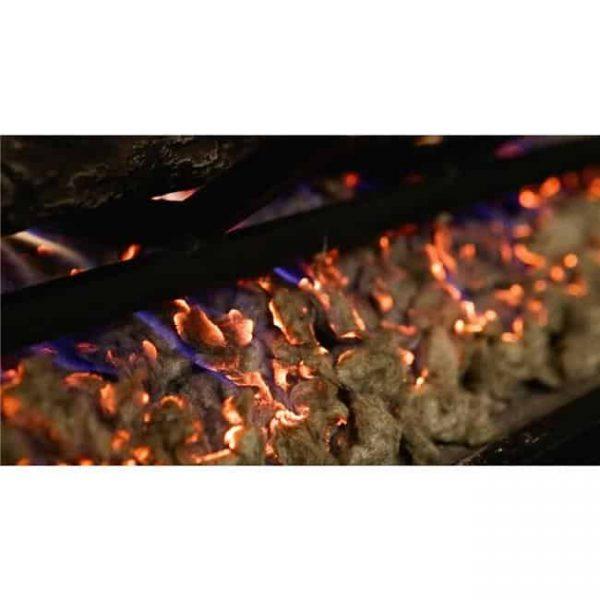 Regal Flame RFA6005 7 oz Platimum Bright Rock Wool Gas Fireplace Glowing Embers for Gas Logs with Vermiculite Granules