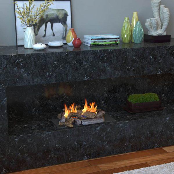 Regal Flame Set of 18 Ceramic Fiber Petite Propane Gel Ethanol or Gas Fireplace Logs 1