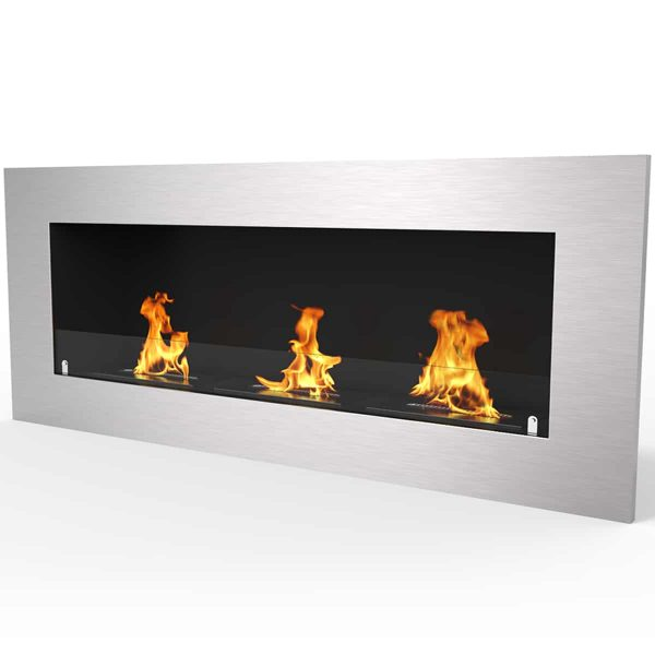 "Regal Flame Warren 50"" PRO Ventless Built In Recessed Bio Ethanol Wall Mounted Fireplace 1"