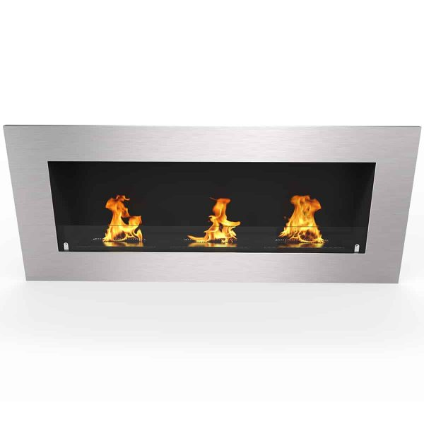 "Regal Flame Warren 50"" PRO Ventless Built In Recessed Bio Ethanol Wall Mounted Fireplace 2"