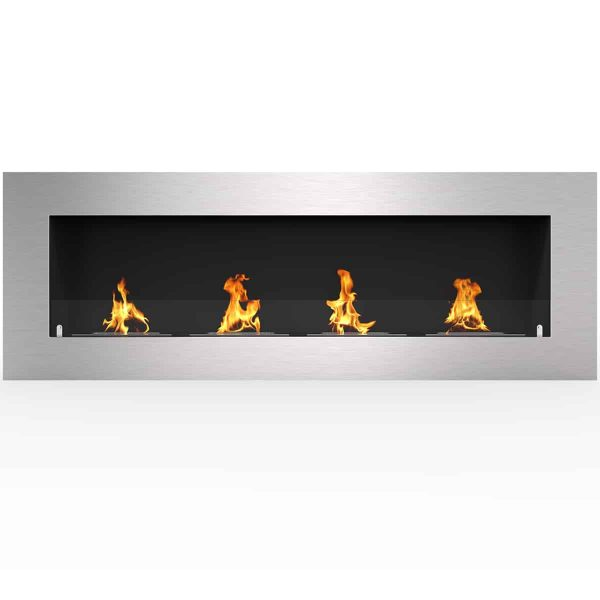 "Regal Flame Warren 50"" PRO Ventless Built In Recessed Bio Ethanol Wall Mounted Fireplace"