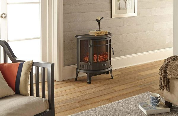 Regal Free Standing Electric Fireplace Stove by e-Flame USA - Black 4