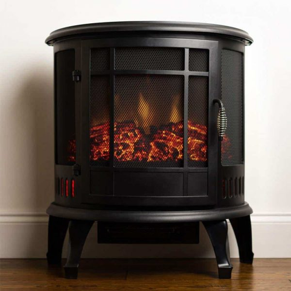 Regal Free Standing Electric Fireplace Stove by e-Flame USA - Black 5