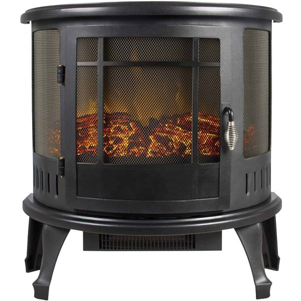 Regal Free Standing Electric Fireplace Stove by e-Flame USA - Black