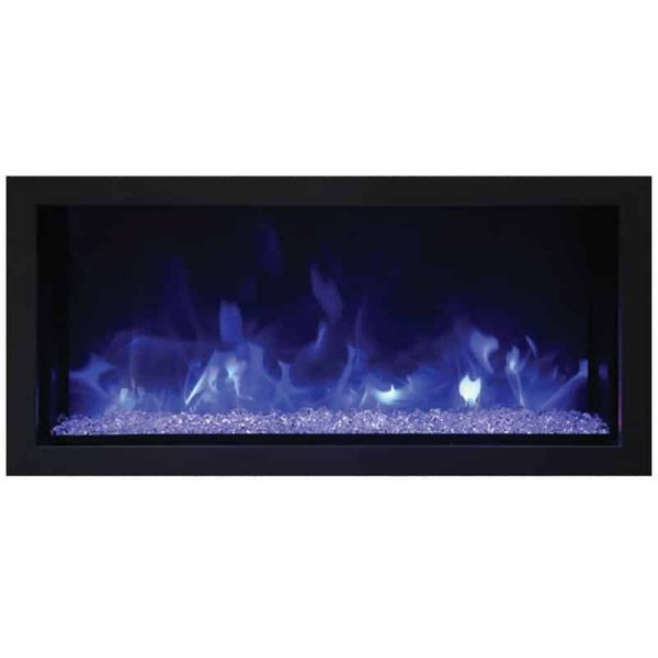 "Remii 35"" Extra Slim Indoor Outdoor Electric Fireplace 2"