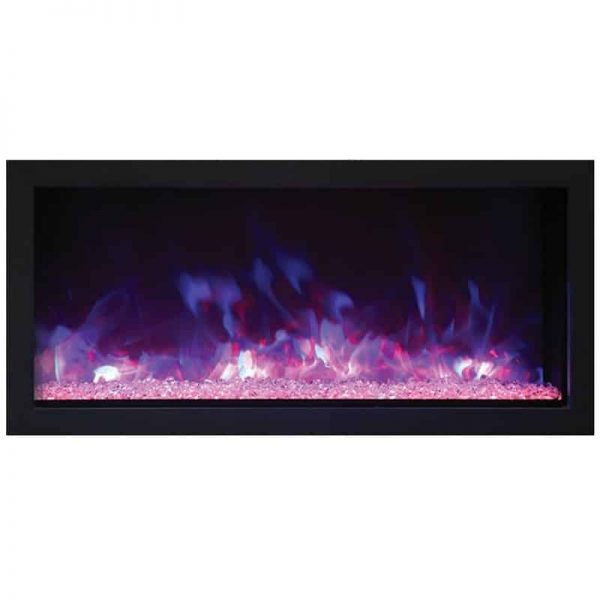 "Remii 35"" Extra Slim Indoor Outdoor Electric Fireplace 3"