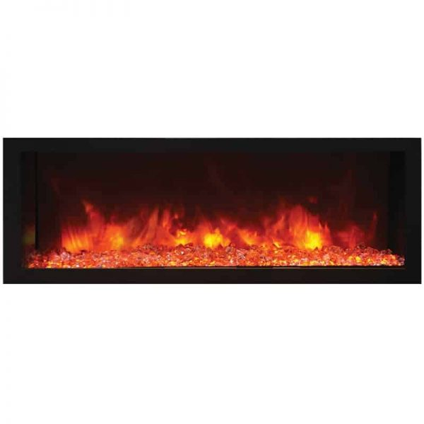 "Remii 45"" DEEP Indoor or Outdoor Electric Fireplace 1"