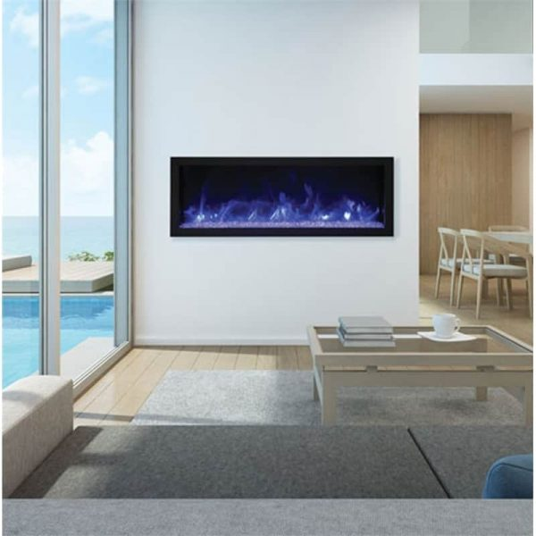 "Remii 45"" Extra Slim Indoor or Outdoor Electric Fireplace"