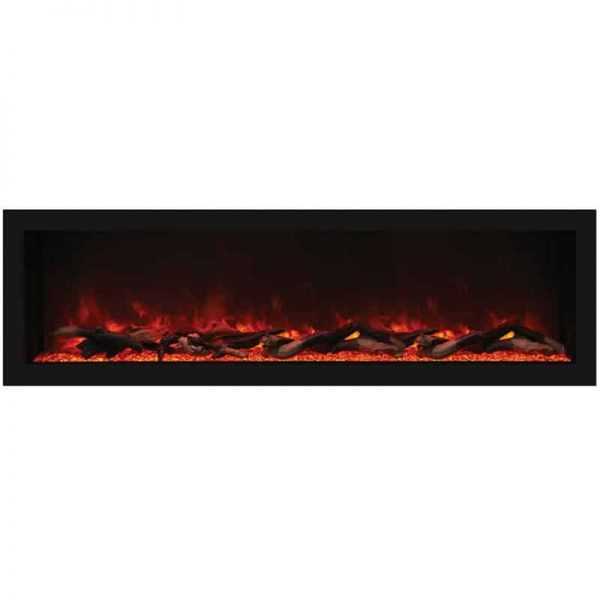 "Remii 55"" Extra Tall Indoor or Outdoor Electric Fireplace 1"