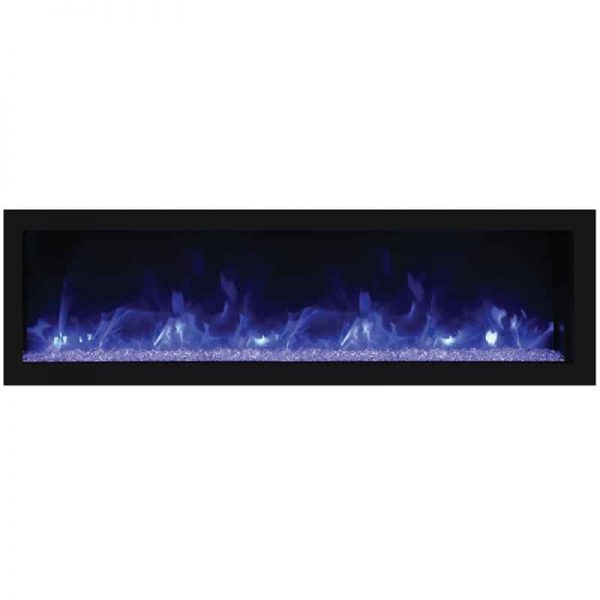 "Remii 55"" Extra Tall Indoor or Outdoor Electric Fireplace 2"