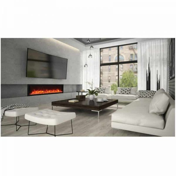 "Remii 65"" DEEP Indoor or Outdoor Electric Fireplace 2"