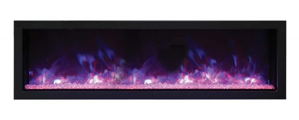 Remii Extra Slim Indoor Electric Fireplace with Black Steel Surround