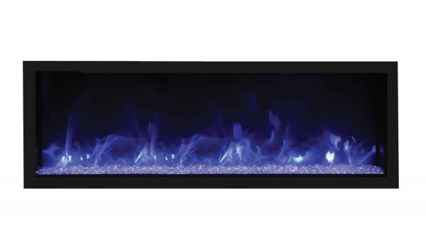 Remii Extra-Tall/Deep Indoor Electric Fireplace with Black Steel Surround