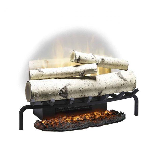 "Revillusion® 25"" Plug-in Electric Birch Log Set, Ceramic Heater 1"