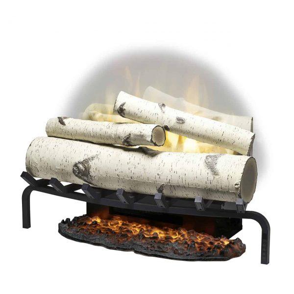 "Revillusion® 25"" Plug-in Electric Birch Log Set, Ceramic Heater 2"
