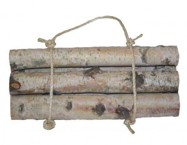 Roped Bundle of Birch Logs (set of 6) 1