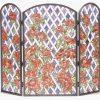 Rose Trellis Folding Fireplace Screen